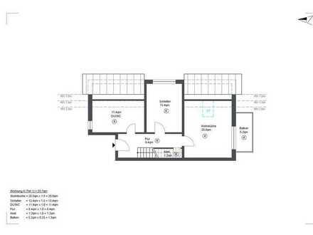 Erstbezug mit Balkon: exklusive 3,5-Zimmer-Dachgeschosswohnung in Pfedelbach