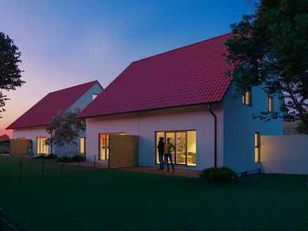 KfW55 - Doppelhaus, voll unterkellert - nahe Augsburg