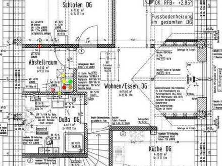 Erstbezug: schöne 2-Zimmer-DG-Wohnung mit Einbauküche und Balkon in Wilnsdorf-Niederdielfen