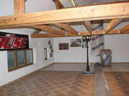 Bei Bad Wörishofen Einfamilienhaus mit Ital. Flair + angebauter Halle-Büro-Lager-Ausstellungsfläche