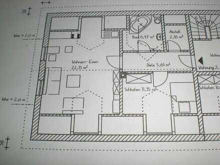 2-Zimmer-DG-Wohnung mit EBK, teilmöbliert mit Klimaanlage in Lenting