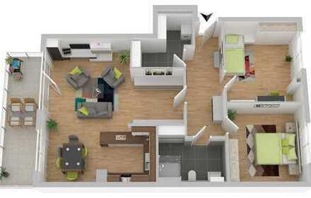 Moderne Neubauwohnung im Obergeschoss mit großem Balkon (Whg. 9)