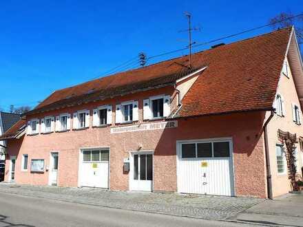Ein gepflegtes Wohn- u. Geschäftshaus mit langer Geschichte im Zentrum von Memmingerberg!