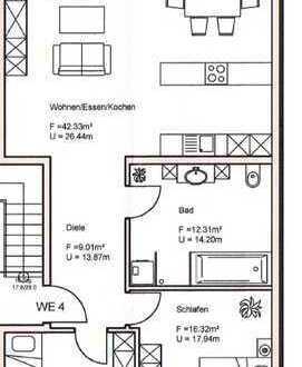Schöne 3-Zimmer-Wohnung mit Balkon in Neubau
