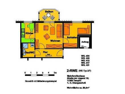2-Raum-Wohnung - Erstbezug nach Sanierung im Oktober 2021