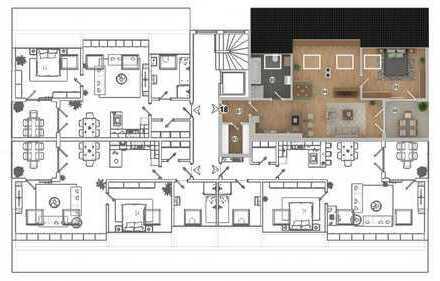 HAUS 1 * West-Carrée * Ampfing • NEUBAU 2-Zi.-Wohnung mit Loggia im DG (WE 18)