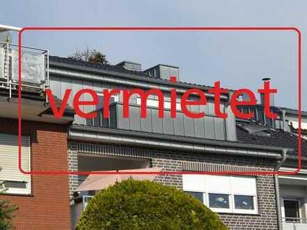 VERMIETET: Schicke Dachgeschosswohnung mit Südloggia in zentraler Lage von Schermbeck