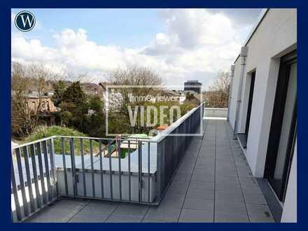 Penthouse-Feeling in Aachen: 2-Zimmer-Neubau mit allem Komfort, ideal für junge Paare, EBK, Aufzug