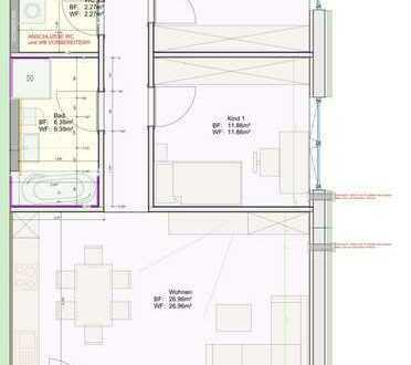 Neubau EG 3-Zimmer-Wohnung mit EBK