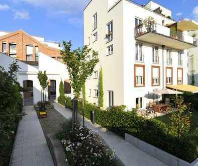 Helle 5-Zi.-Wohnung mit herrlichem Blick ins Grüne und großzügigem Garten im Quartier am Turm - HD