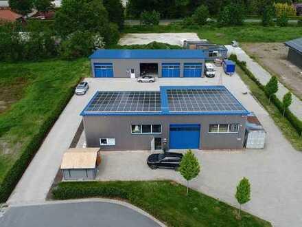 TIPP: Gewerbehalle mit Büro im Ort Jaderberg