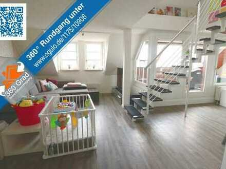 Moderne, neu renovierte 3,5 Zimmer-Maisonette-Wohnung in ruhiger Ortslage