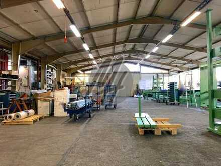 KEINE PROVISION ✓ NÄHE BAB ✓ Lager-/Produktion (2.000 m²) & Büro-/Sozial (450 m²) zu vermieten