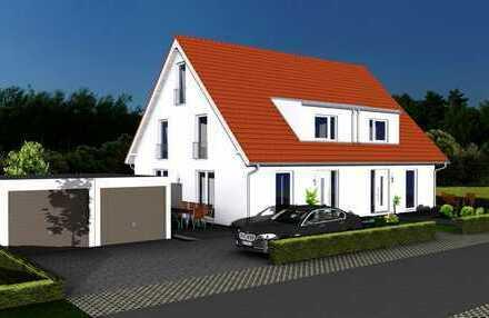 NEUBAU: Doppelhaushälfte mit ca. 15 m² Ausbaureserve * Keller * ruhige Lage * S-Bahn (S2)