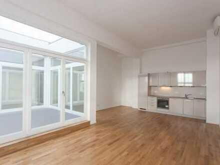 Ab sofort: Dachgeschoss mit Atrium   EBK   Abstellraum   Vollbad + Gäste-Bad