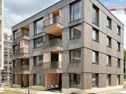 Erstbezug: Moderne 3-Zimmer-Stadtwohnung mit Einbauküche und Balkon