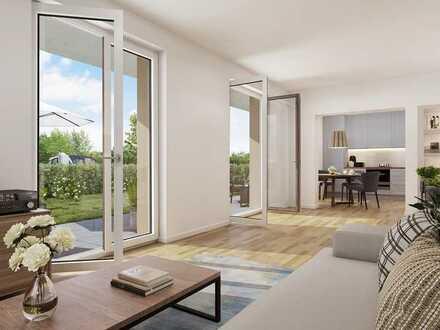 Schöne 2-Zimmer Wohnung mit eigenem Garten, Terrasse & barrierefrei nutzbar
