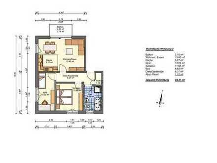 3-Zimmer-Wohnung Obergeschoss rechts