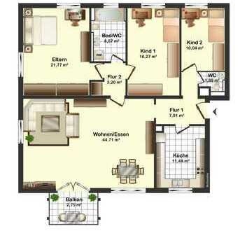 Nähe Duale Hochschule und FH - Schöne 4- (bis 5) Zimmer-Eigentumswohnung mit Balkon