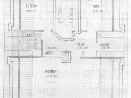 Ruhig gelegene Drei-Zimmer-Wohnung