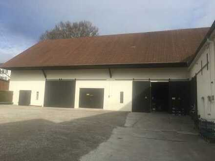 Lagerhalle, Hoffläche und Verkaufsraum