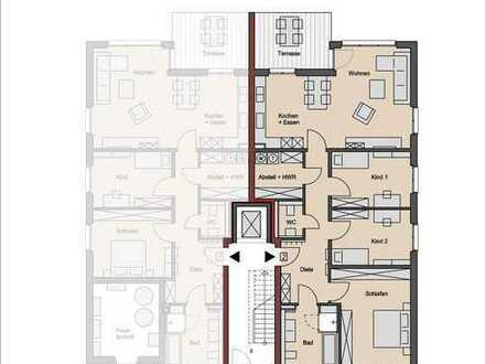 Wohnung 2: 320 m² Garten und 4 Zimmer!