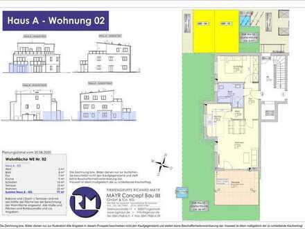Neubau - 77m² EG mit Südterrasse und Privatgarten (02)