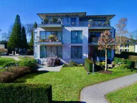 Penthousewohnung mit Rheinblick in ruhiger, edler Lage von Bonn-Mehlem -EBK, 2 TG-Pl., Terrasse