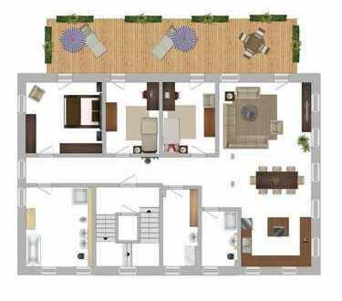 Erstbezug: Barrierefrei, 174 qm, Balkon (ca. 42 qm) & Garten