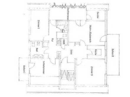 4-Zimmer-Dachgeschosswohnung mit Balkon und Einbauküche in Mörfelden-Walldorf, Walldorf
