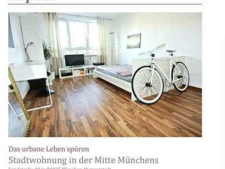 Erstbezug nach Sanierung mit EBK: 2 Zi.-Wohnung WG-geeignet in Maxvorstadt