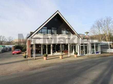 Wohn-/Geschäftsgebäude mit großer 6-Zi.-Whg und 2 vermieteten GE in naturnaher Lage von Sebaldsbrück
