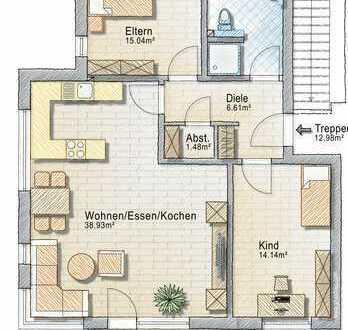 Neubau - Erstbezug - Balkon und Garage