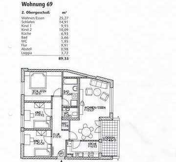 Stilvolle, modernisierte 4-Zimmer-Wohnung mit Balkon in Erding (Kreis)