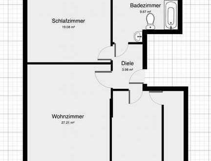3-Zimmer/Balkon/City Lage/Badewanne