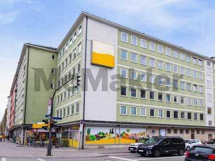 Schwabing: Großzügiges 1-Zi.-Apartment mit Loggia in bester zentraler Lage - ideal für Anleger!