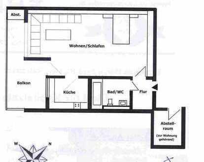 Citywohnung - 1,5-Zimmer-Wohnung mit Balkon und EBK in Böblingen