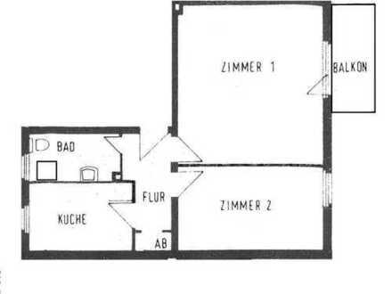 Raumwunder in Mariendorf: 2 Zimmer, Küche Bad und Südost-Balkon. BEZUGSFREI!