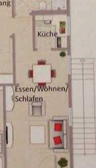 Gepflegte Wohnung mit einem Zimmer sowie Balkon und Einbauküche in Unterreichenbach-Kapfenhardt