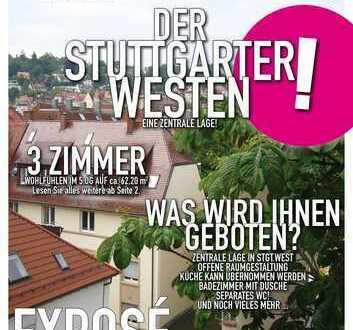 Stuttgart-West - 3 Zimmer Altbauwohung - Dachgeschoß