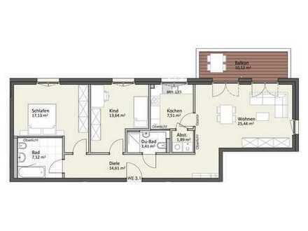 1. Obergeschoss mit Balkon & Lift - Wohnung B3