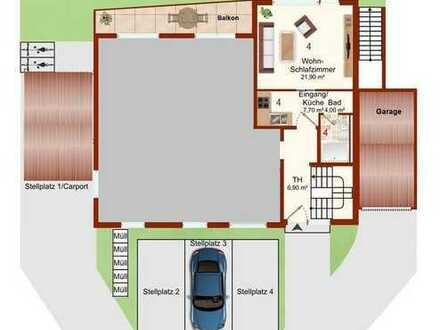 Apartment mit großem Balkon zum Selbstbezug oder Kapitalanlage