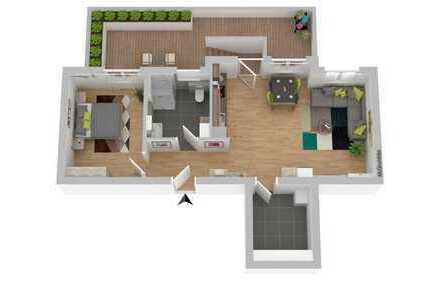 2 Zi.-Gartenwohnung; Neubau