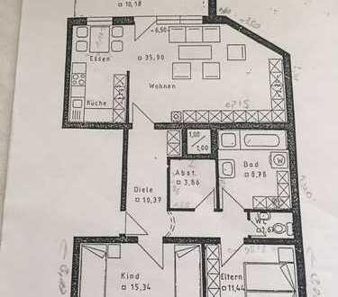 Ansprechende 3-Zimmer-Wohnung mit Balkon in Nördlingen