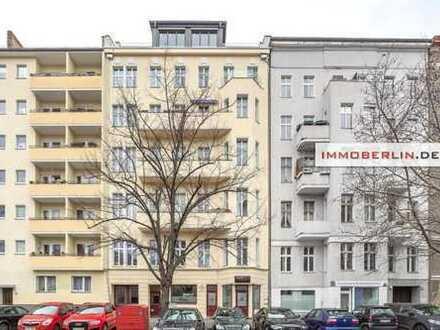 IMMOBERLIN: Exzellente Gewerbe-/Gastronomieeinheit & Wohnung in idealer Lage