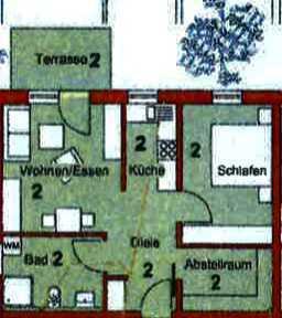 Erstbezug einer 2-Zimmer-Wohnung in Mögglingen in zentraler Ortslage