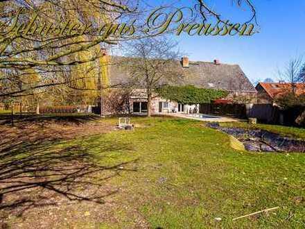 Schuster aus Preussen - Bauernhaus am traumhaften Dorfrand auf ca. 21.175 m² Grundstück, mit 3 Wo...