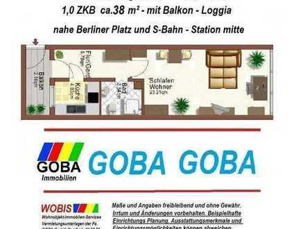 Lu-City 12/18 früher/später komfortable 1,0 ZKB 38 m² sep. Küche, Wohn-u.Arbeitsber./Loggia/Pfalzbau