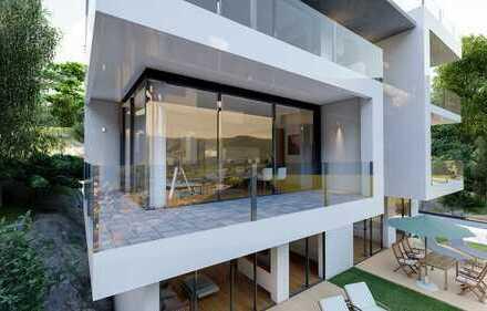 Erdgeschoss 3 Zi Wohnung mit Ausblick und großem Balkon