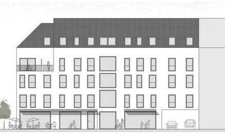 Ladenflächen in Zentrumslage / Gastronomie (Außenbestuhlung) auf Anfrage / KfW55-Neubau !